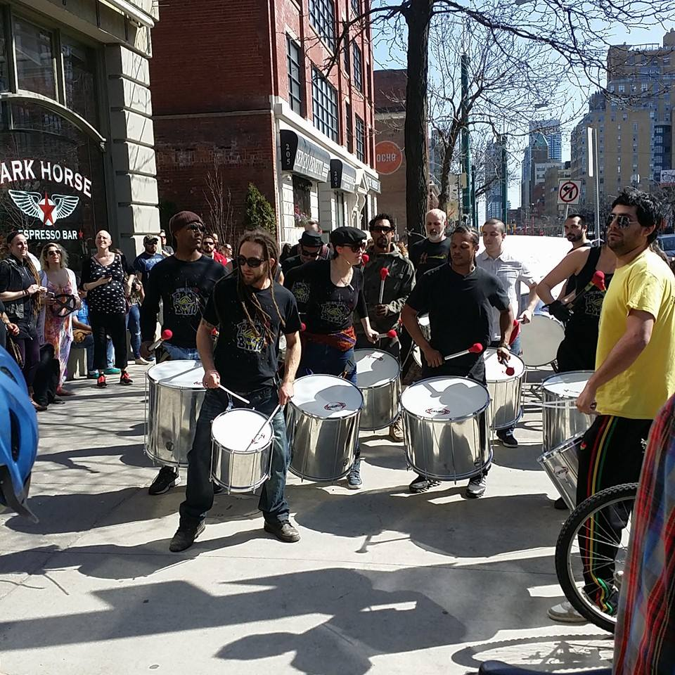 Drummers at block party