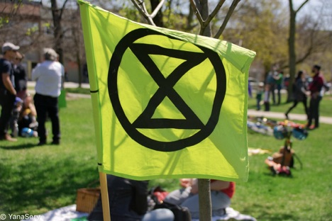 Extinction Rebellion Banner Photo: Yana Sery