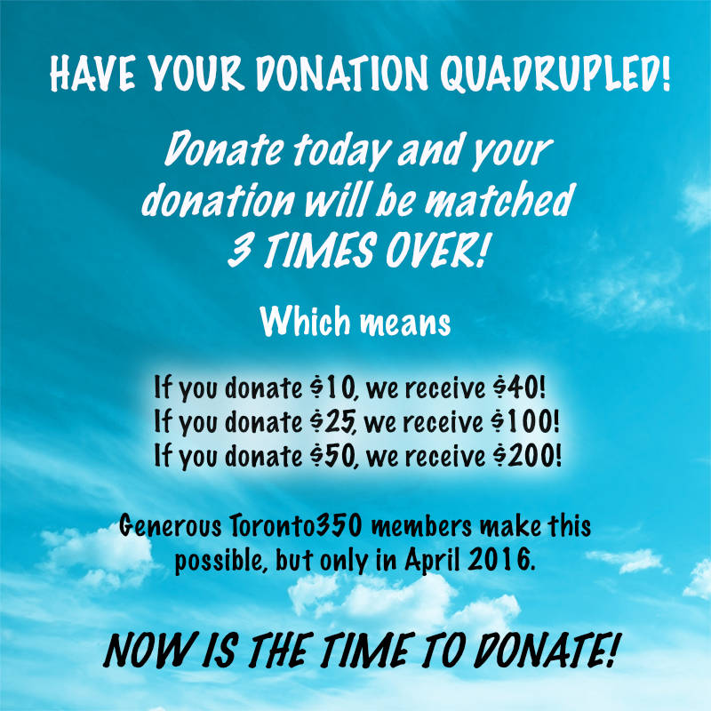 Have your donation quadrupled! Donate today!