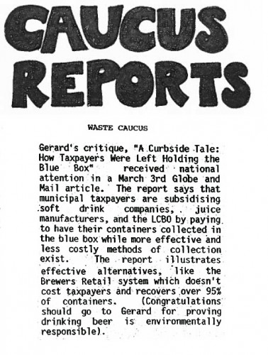 TEA 1994 Waste Caucus report