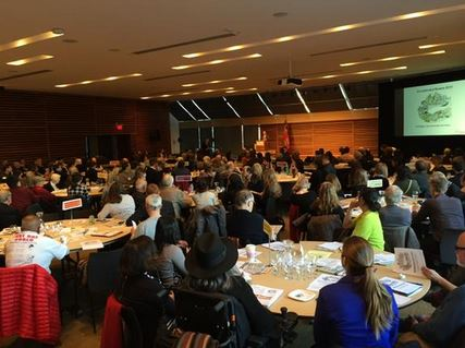 A full house at the Toronto Town Hall. From @Aidanist on Twitter