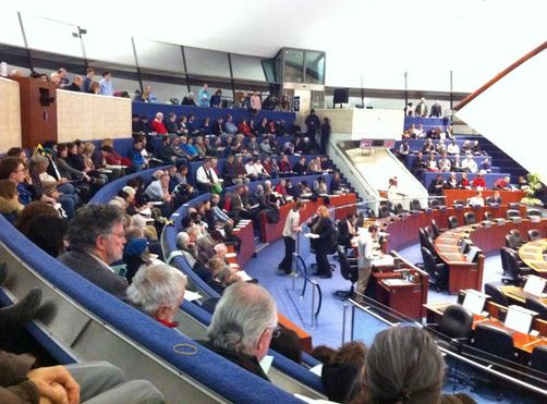 A full house for the March 2nd Subcommittee meeting.