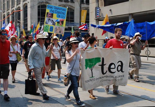 Marching with the TEA banner (S. Wineland)