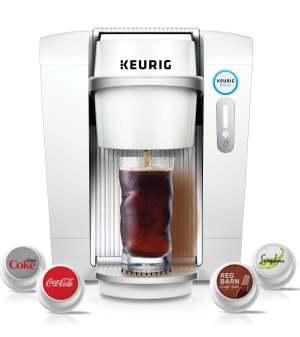 Introducing Keurig Kold, a new machine that uses plastic flavour</br>pods to serve up cold drinks. (Keurig Green Mountain)