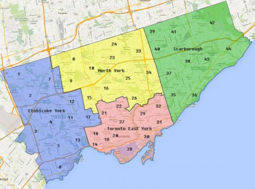 City of Toronto: Ward Map