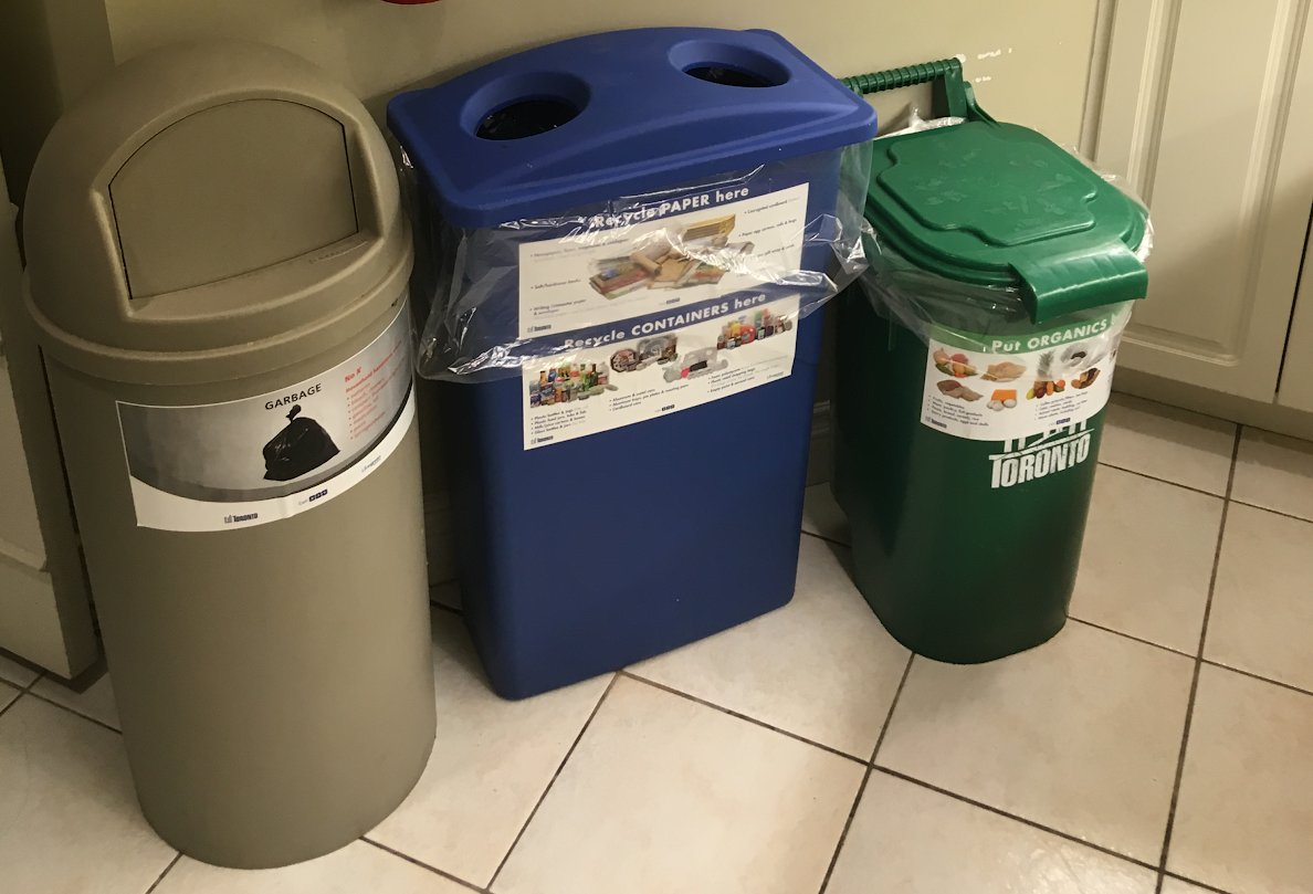 IMAGES: garbage, recycling and organics bins