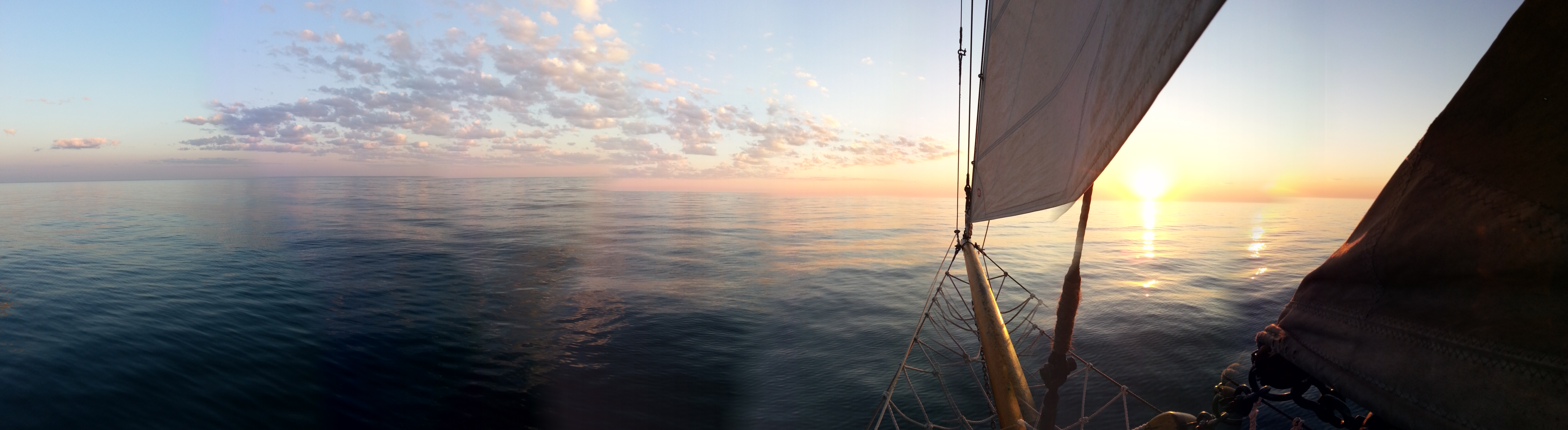 Sunset from the bow.