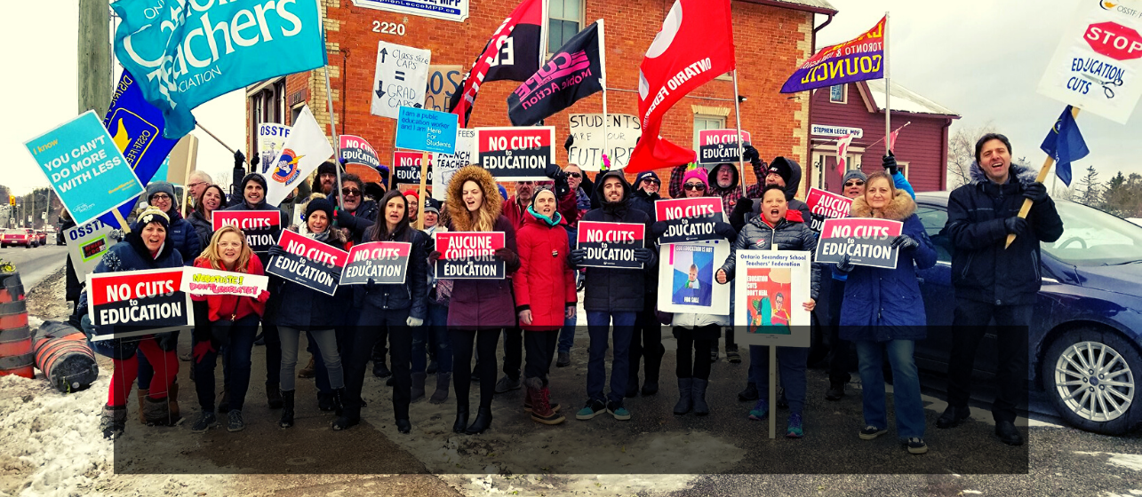 Solidarity With Education Unions | Education public sector unions are at the bargaining tables this fall, standing up to government cuts. Learn how you can support their fight.