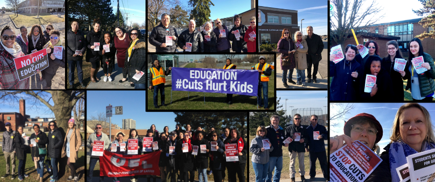 Protect Public Education | Education has and will always be the bedrock of how we progress in society. Join us on April 17 to tell the Ford Government that students, educators, and allies say NO to cuts.