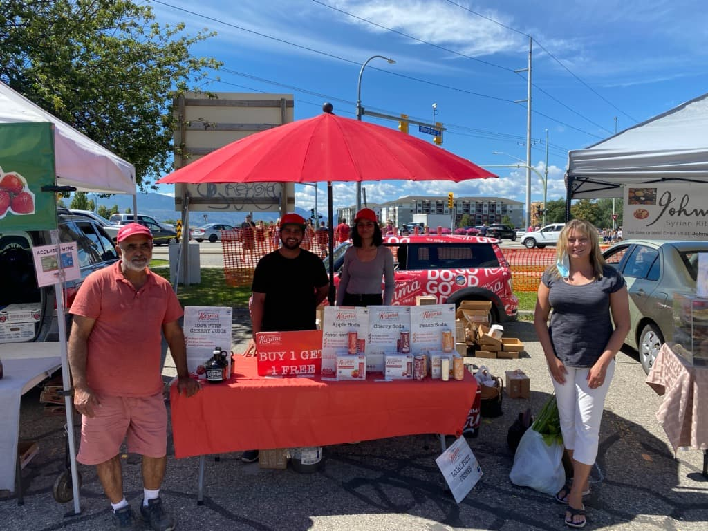 Stopping by the Kelowna Farmers' and Crafters' Market