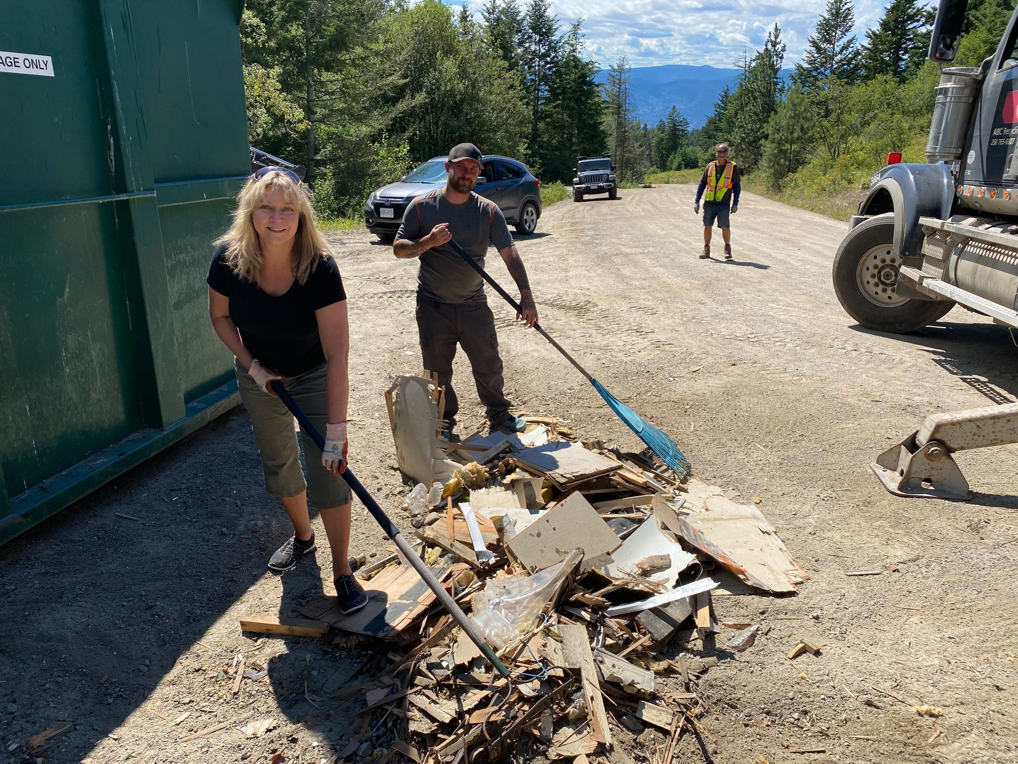 Okanagan Forest Task Force Beaver Lake Rd Cleanup