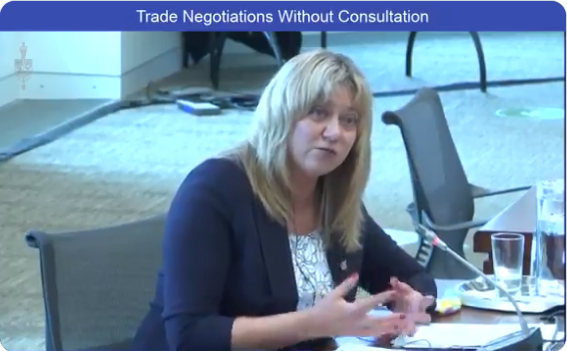 Trade negotiations without consultation