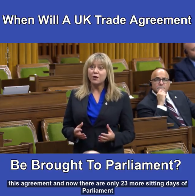 When will a Canada/UK trade agreement be brought to Parliament?