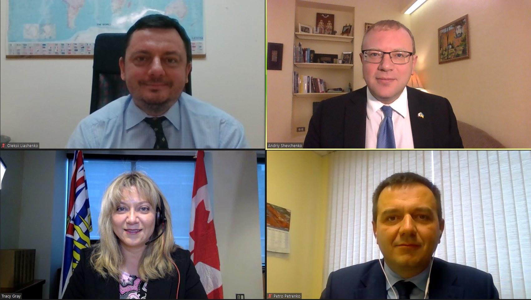 Meeting with Ukrainian Ambassador to Canada Andriy Shevchenko