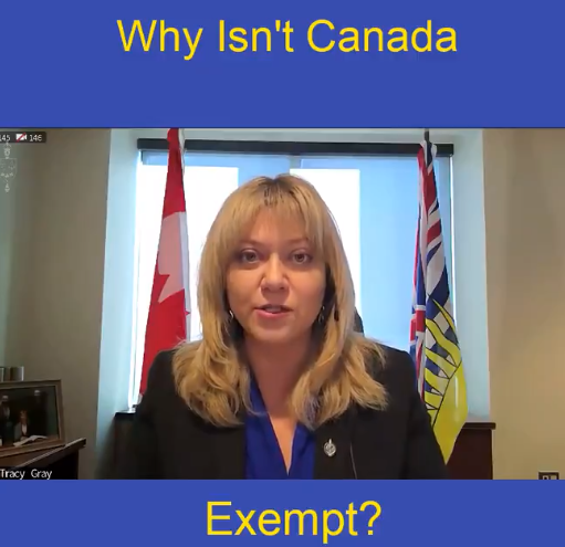 Why isn't Canada exempt from EU COVID Vaccine export controls?