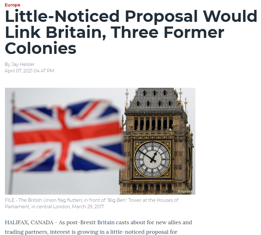 Little-Noticed Proposal Would Link Britain, Three Former Colonies (Voice of America)