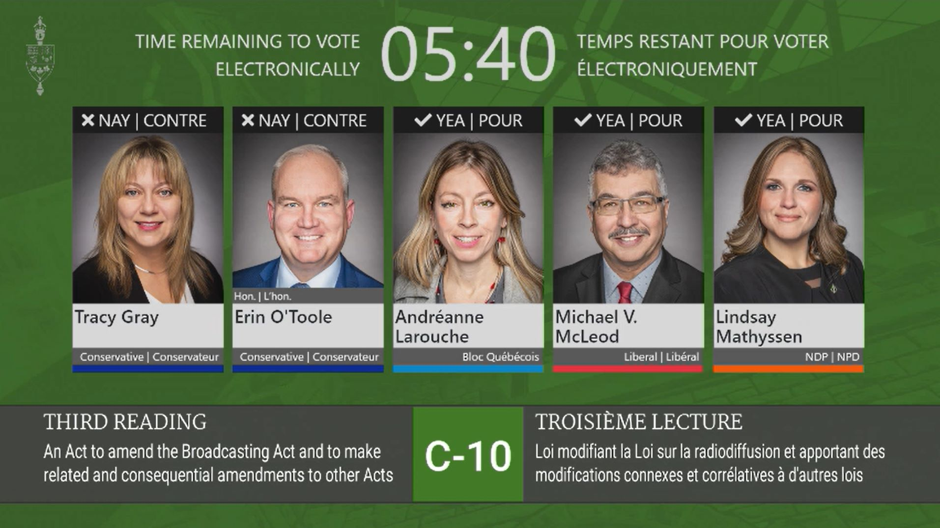 Today I voted against Bill C-10