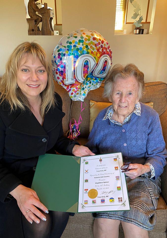 Kelowna's Newest Centenarian