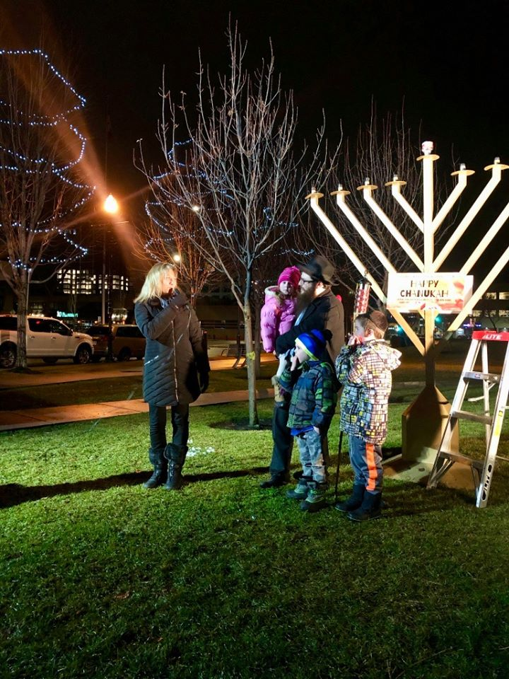 Stuart Park Menorah Lighting