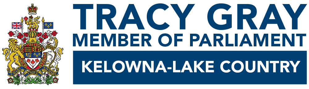 Tracy Gray, Member of Parliament for Kelowna-Lake Country