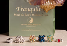 Jewelry for sale at Tranquility Day Spa