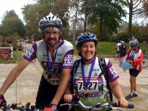 Steve and his daughter, Erica, after completing a Century ride