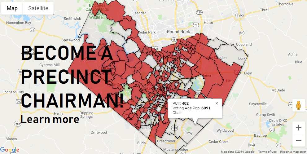 Map Of Travis County Texas Become a Precinct Chair   Travis County Republican Party