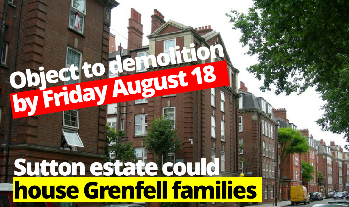 Historic Sutton estate could house Grenfell families
