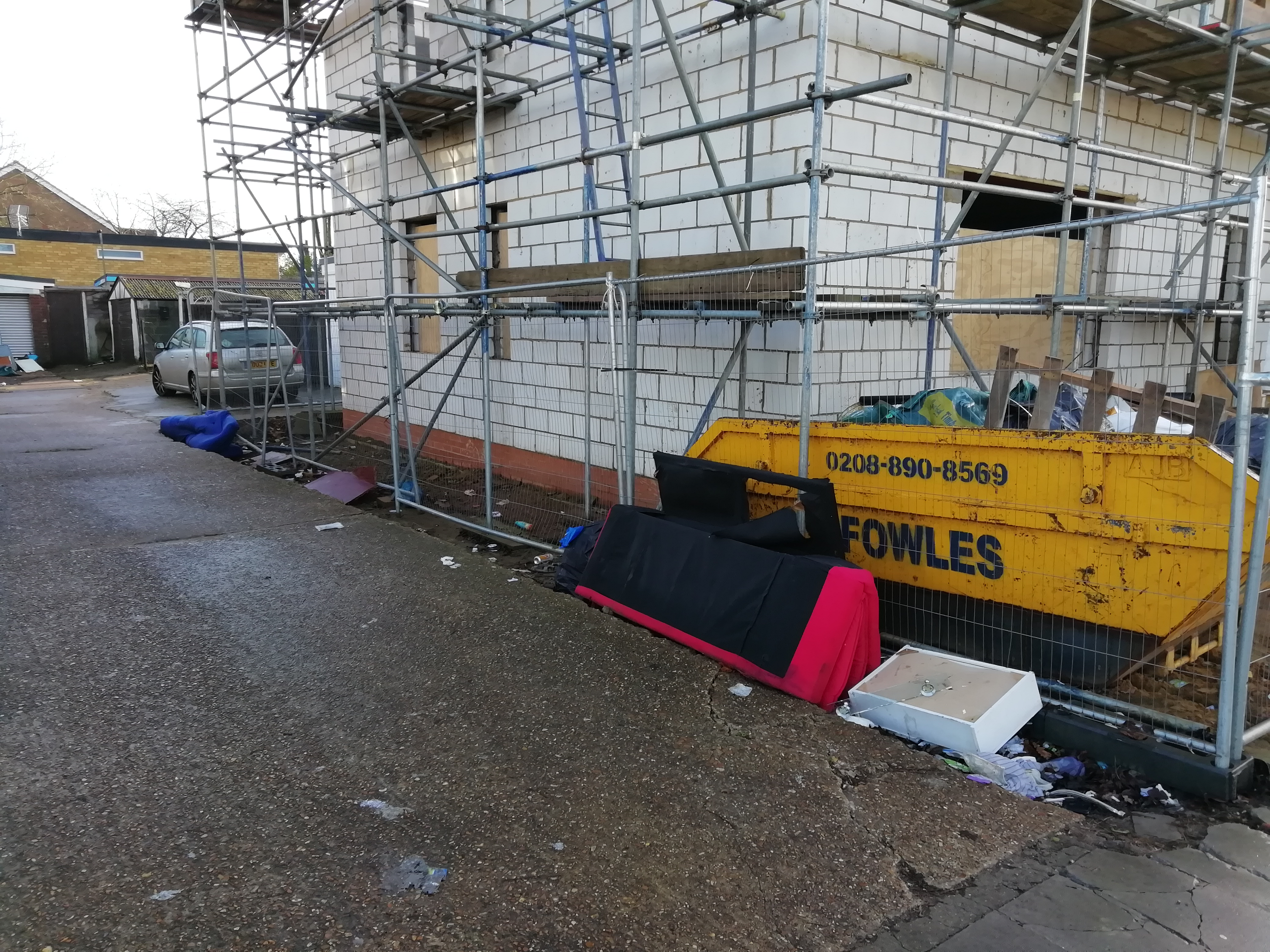Ongoing building work at 310 Nelson Road