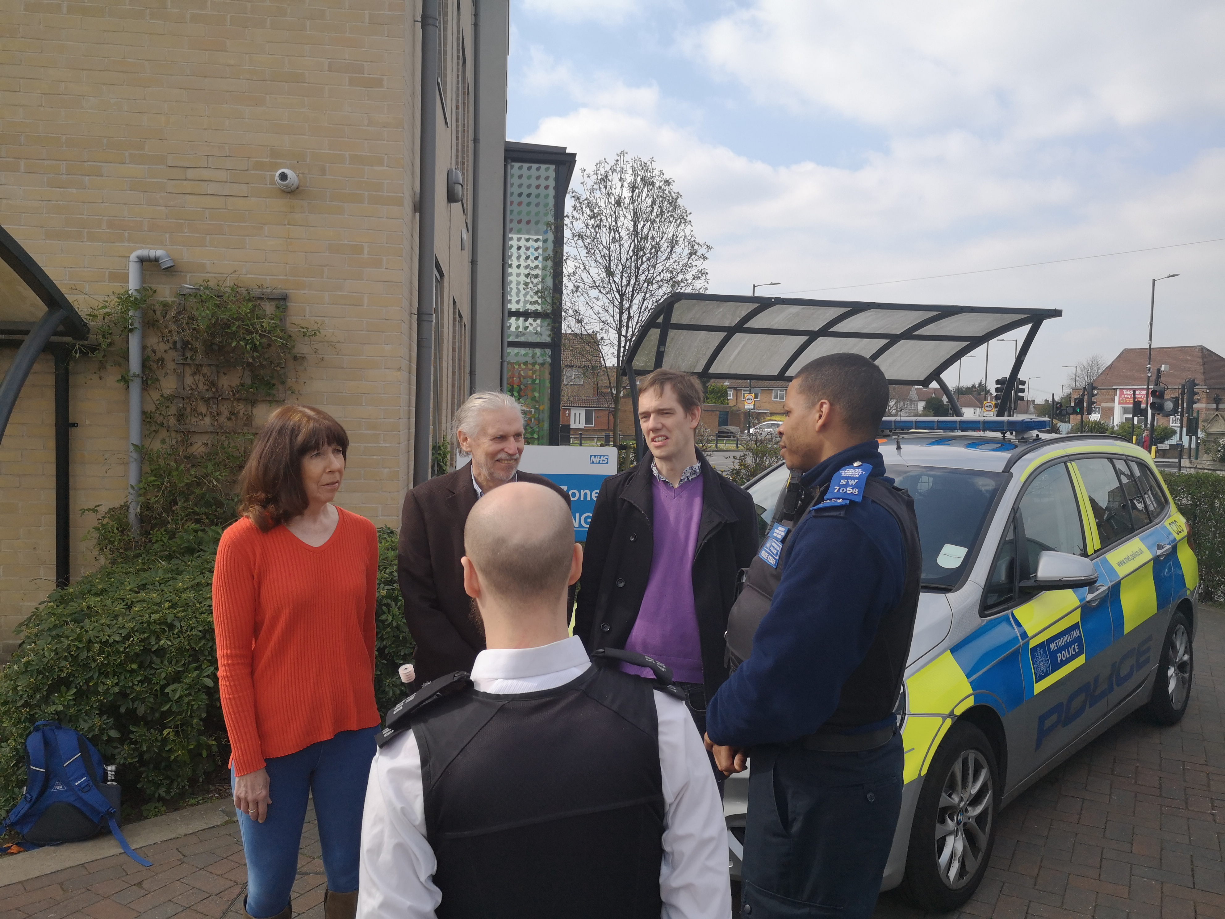Lib Dem Councillors talking to the local Police Team