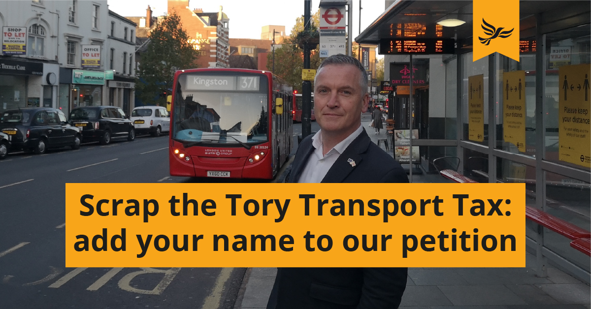 Scrap the unfair Tory transport tax on Londoners - sign our petition