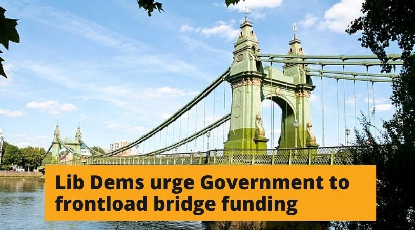Richmond Lib Dems call for Hammersmith Bridge funding to be 'front-loaded'