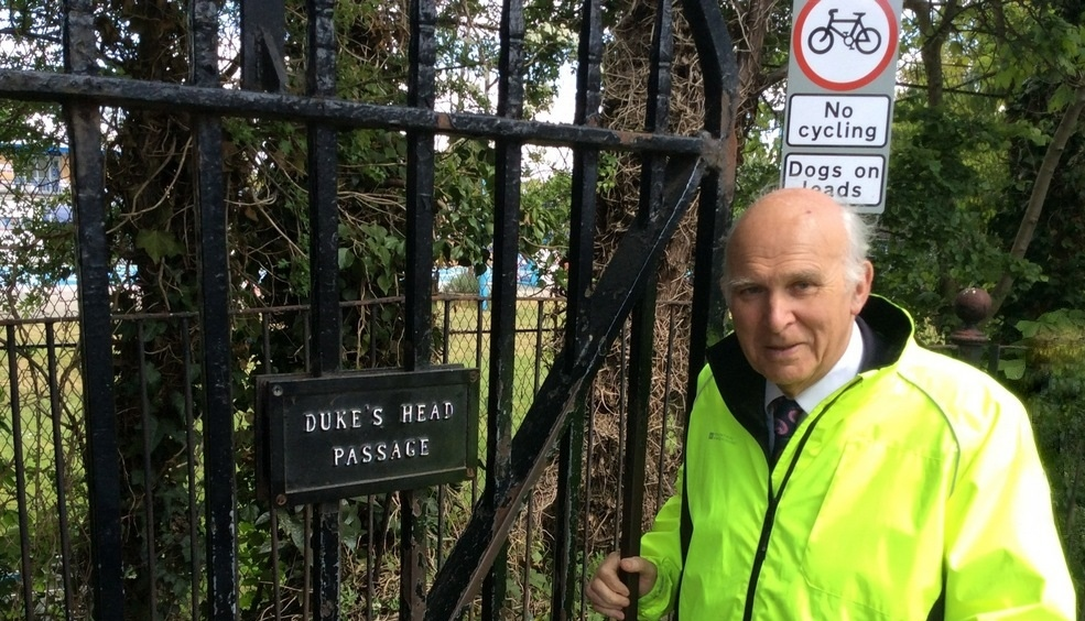 Vince Cable welcomes back down by The Royal Parks on cycling in Bushy Park