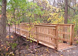 Walking bridge in Meadowlily Nature Preserve