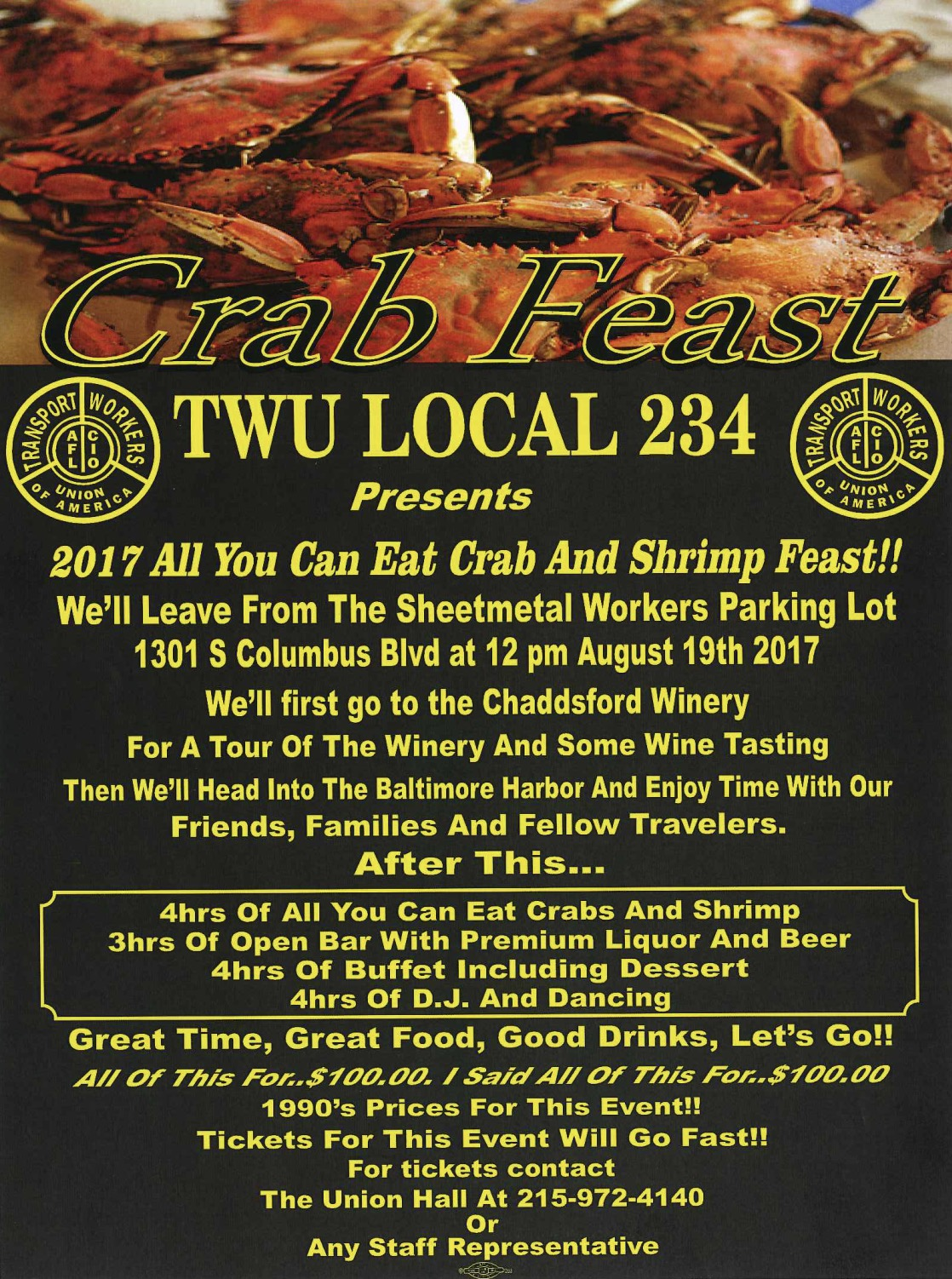 2017 TWU Local 234 Crab Feast