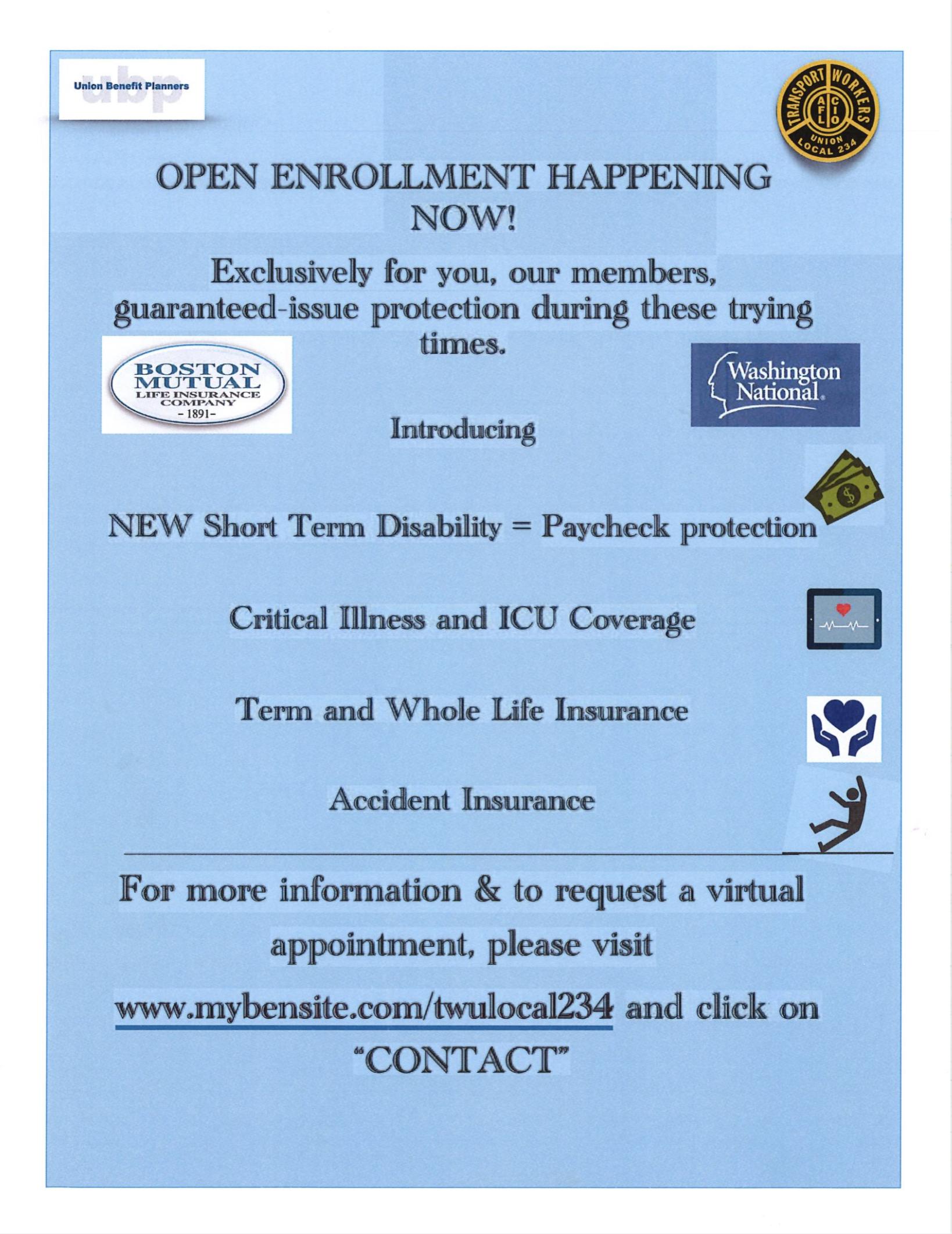 UBP Open Enrollment