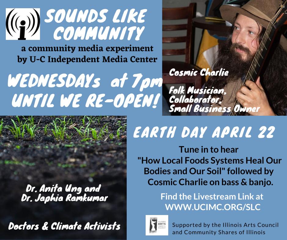 flyer for April 22 2020 Sounds Like Community