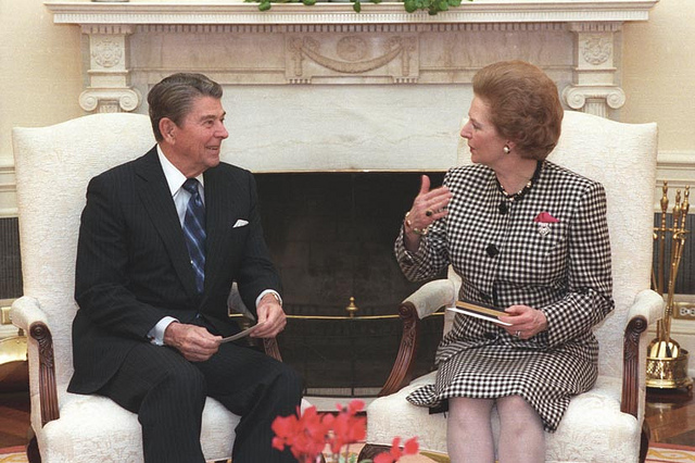 Ronald Reagan and Margaret Thatcher (photo courtesy Reagan Presidential Library)