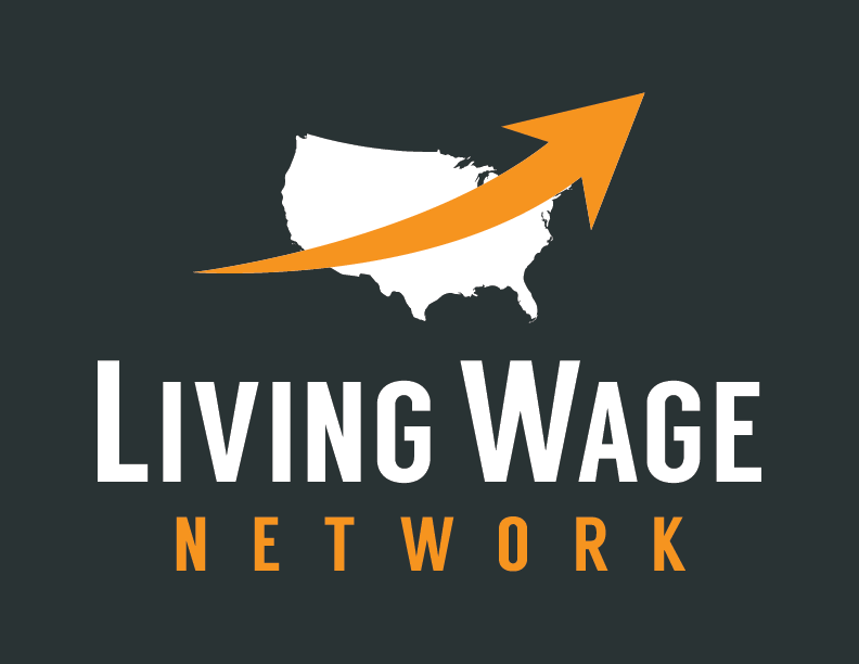 The living wage network's logo