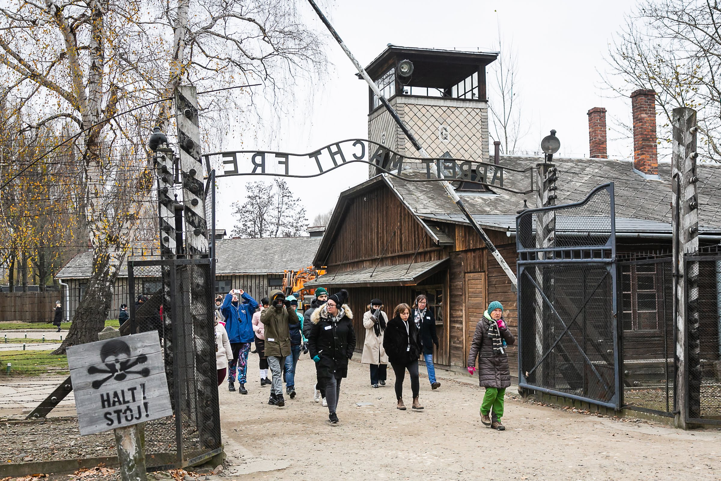University, student union and NUS leaders visit Auschwitz-Birkenau as part of our 'Lessons from Auschwitz' Universities Project together with HET, November 2018