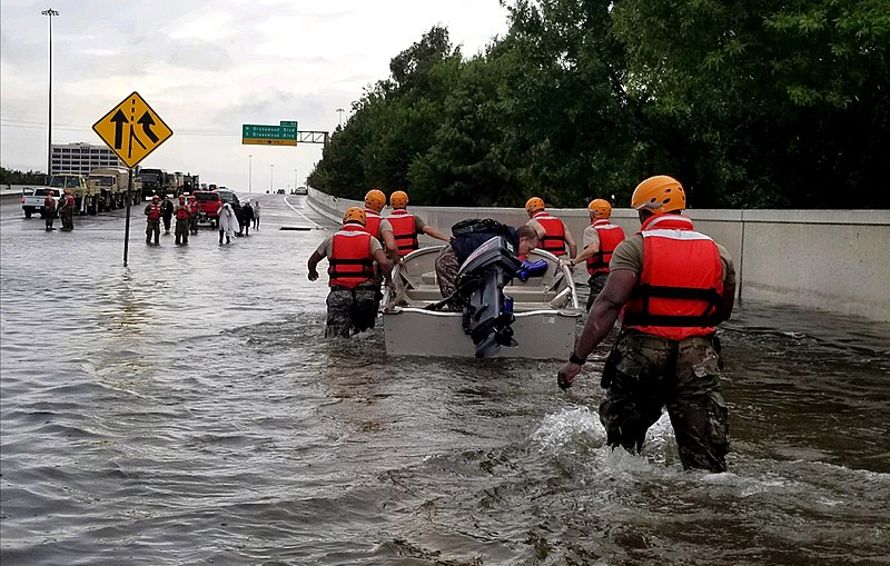 Texas National Guard in Houston after Hurrican Harvey