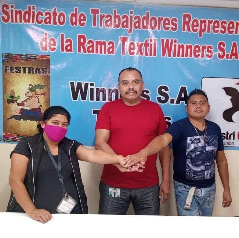 Leaders of SITRAWInners-FESTRAS in Guatemala