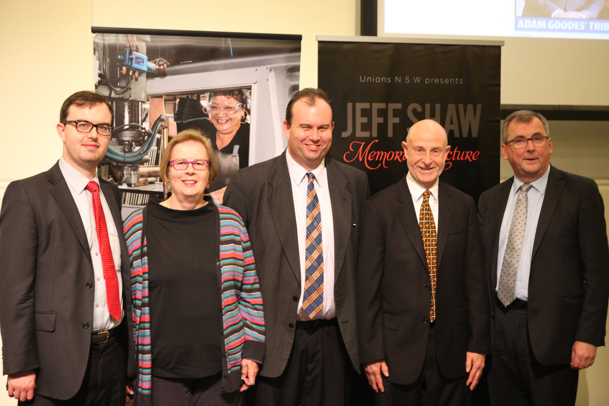 The Shaw Family with Phillip Boulten SC and Mark Lennon, Secretary of Unions NSW