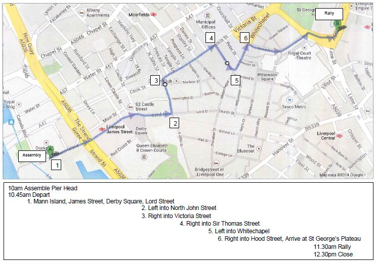 15 March 2014 - Route