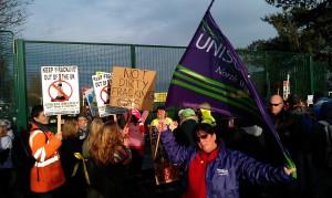 Anti_fracking protest, Barton Moss 081213