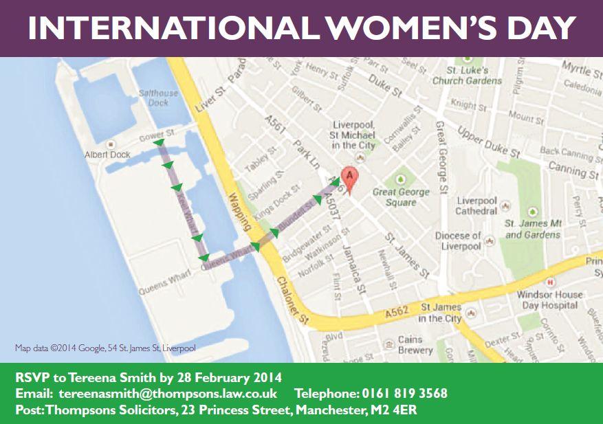 International Women's Day - route
