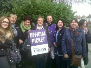 The official picket at Broad Green today