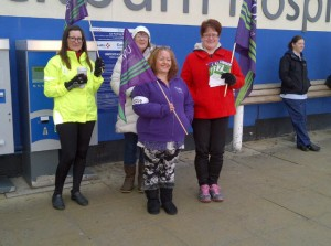 7 days of action on NHS pay at Royal Blackburn Hospital