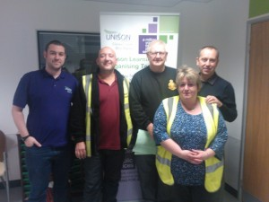 Some of the Wigan branch team on the day. Tracy on the right of the picture.