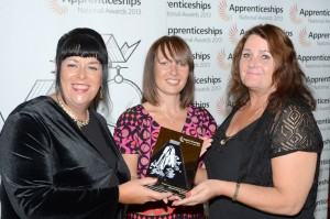 L-R: Fiona Chapman, NVQ Lead for the Trust, Sue Price, North Divisonal Area Director for National Apprentice Services, Marie Reece, UNISON Sefton Health Branch